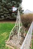 (2) Large Wagon Wheel & 7' Metal Windmill.
