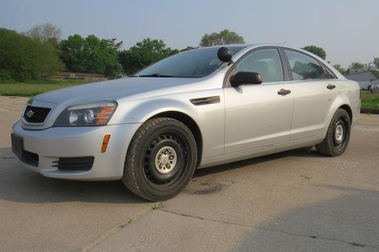 2011 Chevrolet Caprice 4-Door Sedan Police Car, VIN# 6G1MK5T27BL550993, 6.0 Liter V-8 Gas Engine, Au