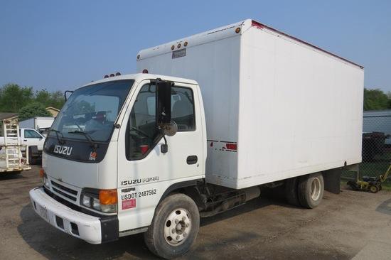 2001 Isuzu Model NPR Cabover Van Truck, VIN# 4K5B4B1R31J805184, Isuzu Diesel Engine, Automatic Trans
