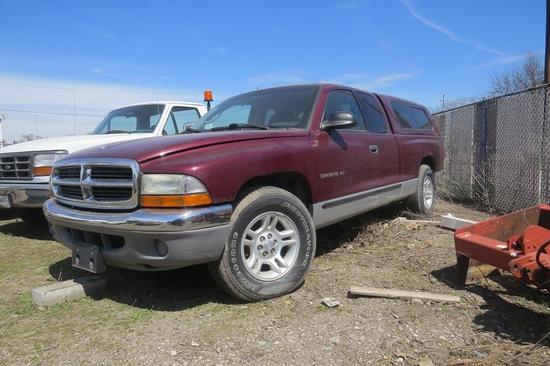2001 Dodge Dakota SLT Pickup Truck, VIN 18GL22X71S241846, 3.9 Liter Gas Engine, Automatic Transmissi