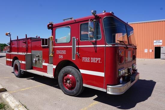 1987 Seagrave Pumper Fire Truck, VIN# 1F9EU28J4HCST2143, Detroit Diesel Engine, Allison Automatic