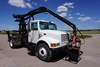 1997 IHC Model 4900 4x2 Single Axle Knuckle Boom Grapple Truck,, VIN# 1HTSDAALOWH499410, DT466E