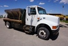 2001 IHC Model 4700 LP 4x2 Single Axle Dually Flatbed Truck, VIN# 1HTSCAAM71H391046, DT466E Diesel E