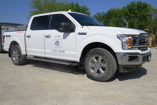 2018 Ford F-150 XLT Super Crew, VIN#IFTEWIED8JFA95454, Eco Boost, Auto Trans, 4X4, 13,166 Act. Miles