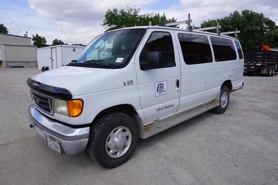 2004 Ford Model E-350 XLT 15-Passenger Cargo Van, VIN#IFBSS3IL64HA05065, 228,910 Miles, Front & Rear