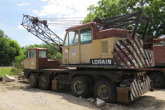 Loraine Model MC-330 HD Conventional Boom Truck Crane, Wauhesha Upper & Lower Gas Engines, Manual Tr