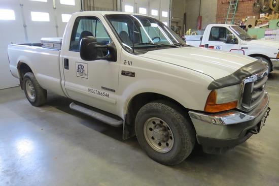 2001 Ford Model F-250 XLT ¾ Ton Pickup, VIN#IFTNF20F21ED65708, 4X2, 7.3 Liter Turbo, Diesel Powerstr