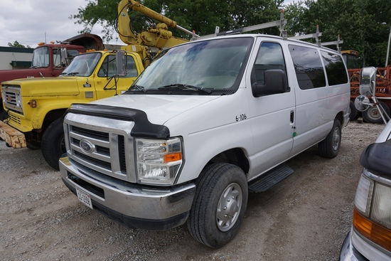 2008 Ford Model E-350 15-Passenger Cargo Van, VIN#IFBNE31L38DA80386, 5.4 Liter V-8 Gas Engine, Auto