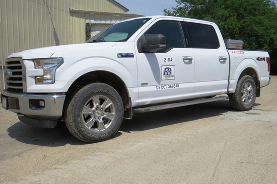 2016 Ford Model F-150 XLT Super Crew Pickup, VN# 1FTEW1EP3GKD16054, 49,117 Act. Miles,