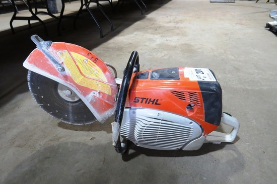 Stihl Model TS700 Portable Concrete Saw.