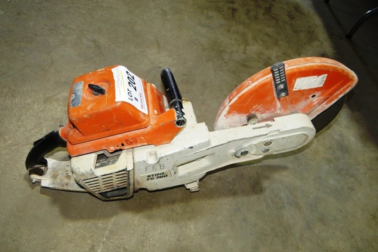 Stihl Model TS760 Portable Concrete Saw.