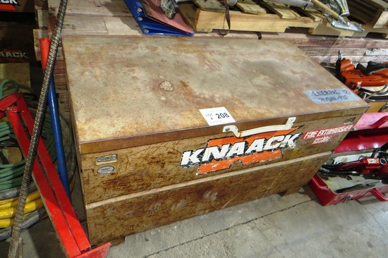 Enerpac Hushh-Pup Portable Hydraulic Power Unit in Knaack Tool Chest on Wheels.