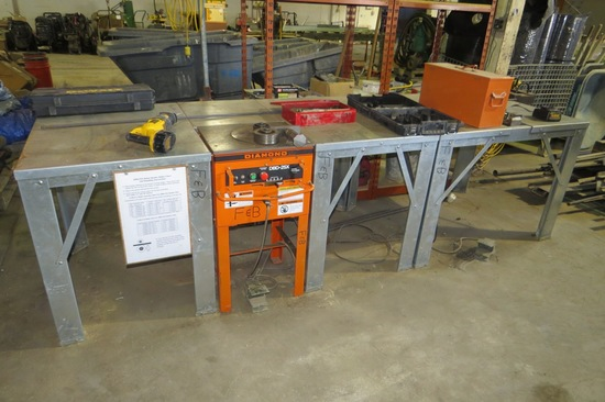 Benner Newman, Inc Model DC-25X Heavy Duty Industrial Electric Rebar Cutter with Case & Foot Control