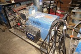 Miller Model AEAD-200LE Constant Current AC/DC Arc Welding Generator on Heavy Duty 4-Wheel Cart with