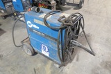 Miller Millermatic 250 Portable Wire Feed Welder on 4-Wheel Cart, Gauges (No Tank), with Leads