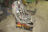 Thermal Dynamics Pakmaster 100XL Plus Portable Plasma Cutter on Cart with Leads & Gun.