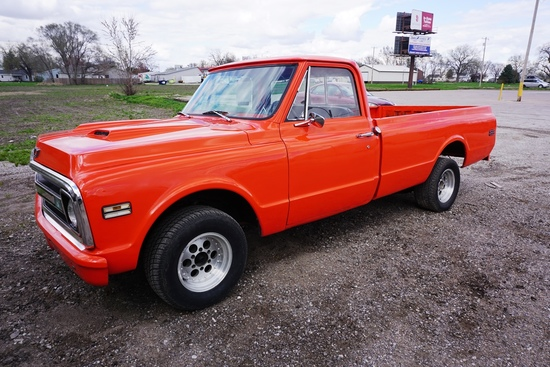 1970 Chevrolet Model C-10 Pickup, VIN# CE140S153339, 350 V-8 Gas Engine, GM