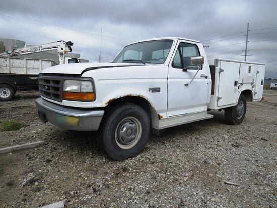 1994 Ford F 250 XLService Pickup, VIN# 1FTHF25H1BLA58805, 5.8Liter Gas Engine, Automatic Transmiss