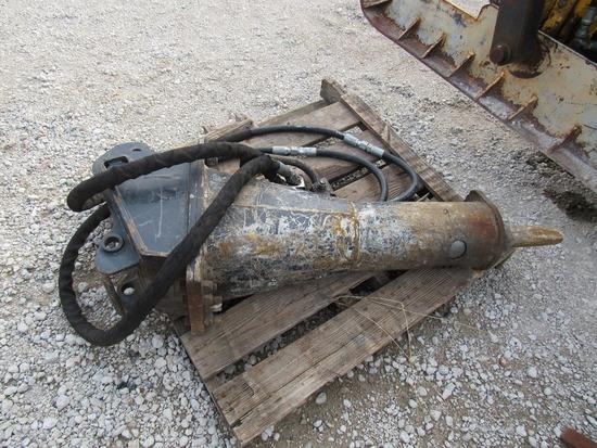 Bobcat Heavy Duty Hydraulic Concrete Breaker Attachment for Mini Excavators.
