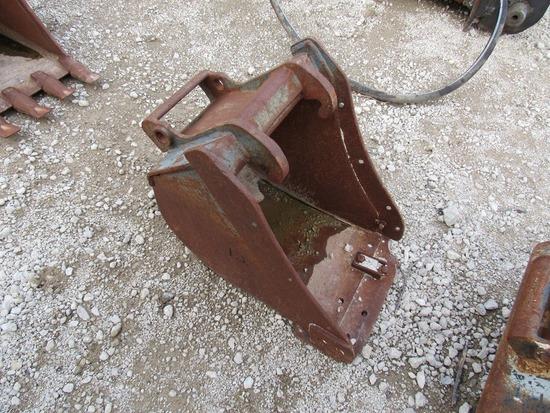 "Bobcat 18"" Bucket with Teeth Attachment for Mini Excavators."