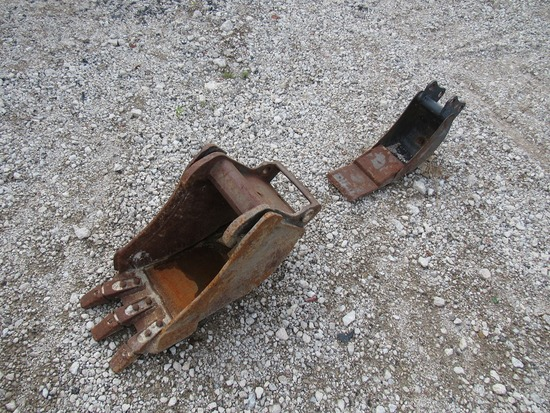 """Bobcat 12"""" & 8"""" Bucket Attachments for Mini Excavators."""