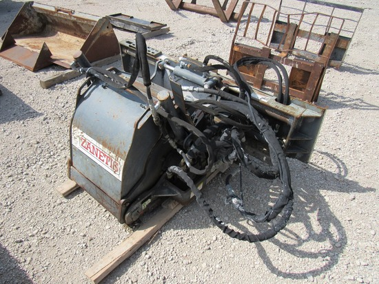 Zanetis Model PCP18-EHS Hydraulic Concrete Grinder Attachment for Skid Loaders, SN# 0708006, 5,000 p