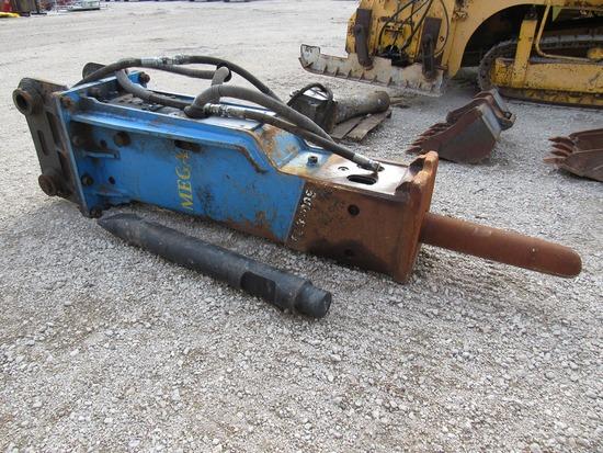 Hydro Khan Heavy Duty Hydraulic Concrete Breaker Attachment for Hydraulic Excavators.