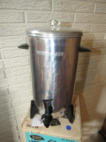 Mirro Matic 22-Cup Electric Coffee Maker in Original Box.