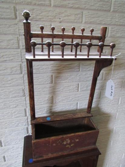 Small Oak Wall-Mounted Letter Box.