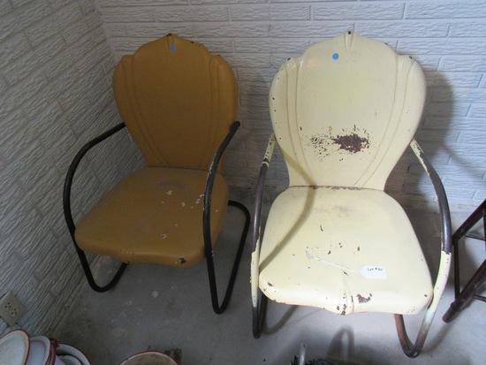 (2) Antique Metal Lawn Chairs (2 x Money).