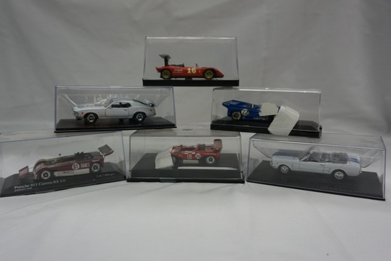 (6) Various Brands 1:43 Scale Models in Boxes: 70 Revson, 72 Cevgrt, (2) Fo