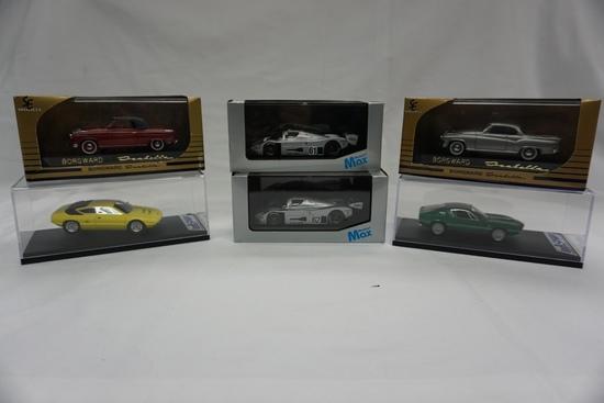 (6) Various Brands 1:43 Scale Models in Boxes: Lamborghini Urraco 250, Alfa