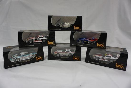 "(6) IXO Brands 1:43 Scale Models in Boxes: Viper, Audi R8, ""Raceline"" LMM03"