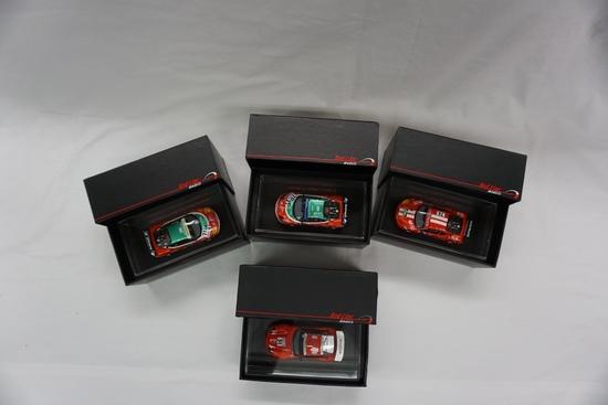 (4) Redlines Brand 1:43 Scale Models in Boxes:  (3) Ferrari 360, (1) Ferrai
