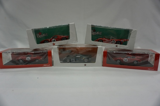(5) Various Brands 1:43 Scale Models in Boxes: (2) Abarth - 700's & (3) Biz