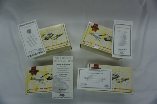 (4) Matchbox Collectibles 1:43 Scale Models New in Box with COA: '63 Corvet