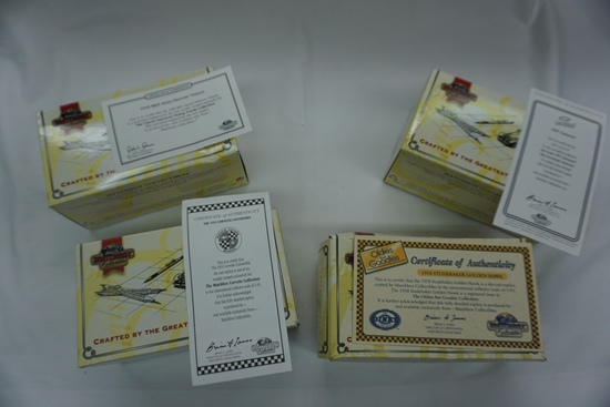 (4) Matchbox Collectibles 1:43 Scale Models New in Box with COA: '39 REO Sp