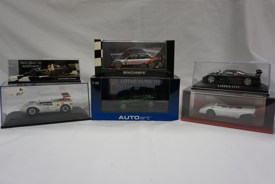 (6) Various Brand 1:43 Scale Models in Boxes: AutoArt Lotus Elise 111S, Lot