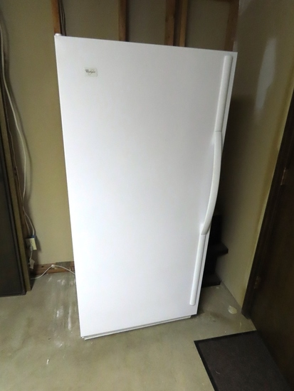2009 Whirlpool 17 Cu. Ft. Upright Freezer (Excellent Condition).