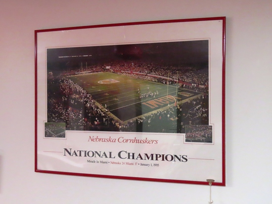 """1994 National Champions Framed Poster """"Miracle in Miami 1/1/1995""""."""