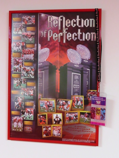 Reflection of Perfection 1995 National Champions Framed Poster.