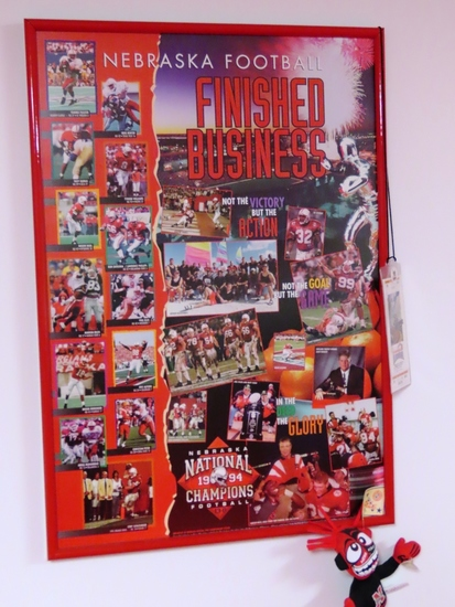 """1994 National Champions """"Finished Business"""" Framed Poster."""