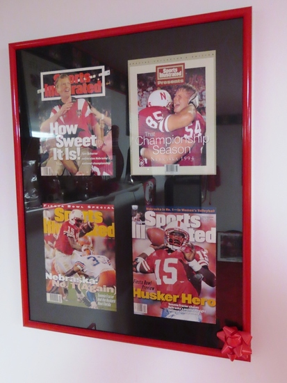 (4) Sports Illustrated Magazines in Frame from 1994 & 1995 National Championship Year.