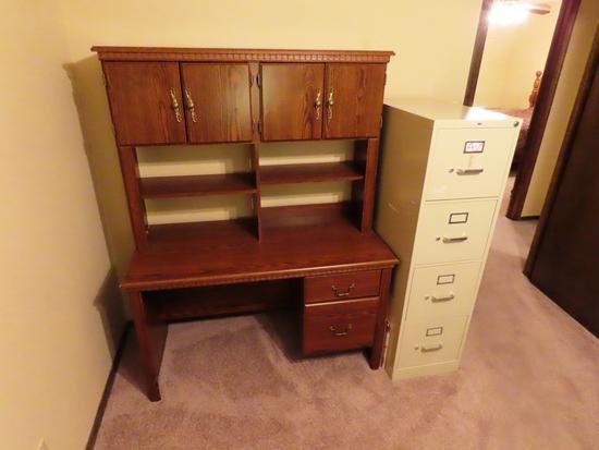 (2) Computer Desks with Upper Storage.