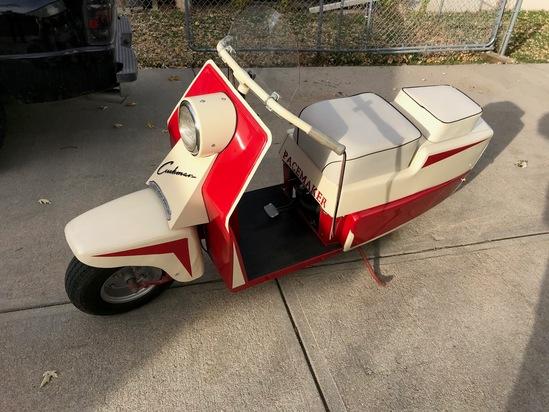 "1958 Cushman ""Pacemaker"" 2-Seater Motor Scooter, VIN# 000430, Rebuilt Gas Engine, 6-Volt System, Com"