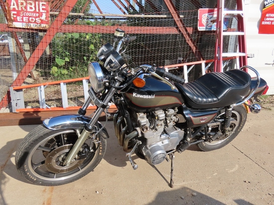 1980 Kawasaki Model KZ1000 Motorcycle, VIN# K2T00B530292, Very Good Appearance - Does NOT Run (Sells