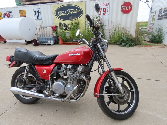 1979 Kawasaki Model K650 Motorcycle, VIN# KZ650D013771, Very Good Appearance, Ran 1 Year Ago.