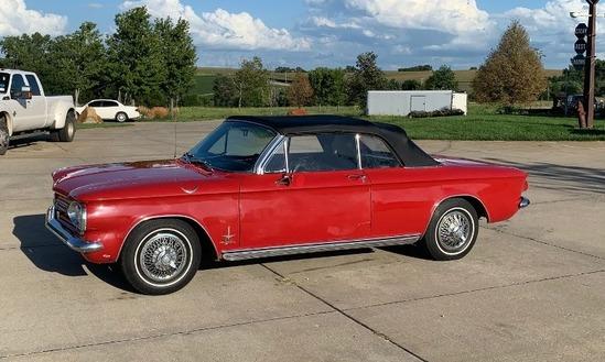 1962 Chevrolet Corvair Monza Turbo Spyder 900 2-Door Convertible, VIN# 20967W272887, 150HP Turbo Gas