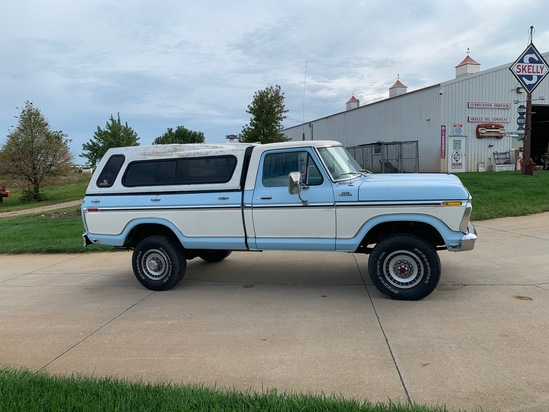 1977 Ford Model F-250 4x4 Highboy Pickup with Topper, VIN# F26SR028134, 55,618 Miles, 460 Cubic Inch