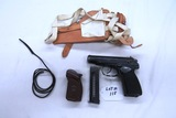 Makarov Semi-Auto Pistol, SN# BV2153, 9mm w/.22 Long Rifle conversion (1911 Frame), Made in East Ger